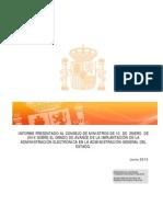 Informe Sobre Grado Avance Administracionelectronica en AGE Junio 2013