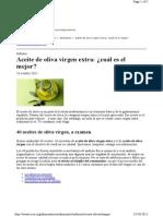 INFORME OCU Aceites Oliva
