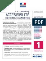 Dossier de Presse Accessibilite 25 Septembre 2014