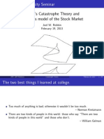 Thom's Catastrophe Theory and Zeeman's Model of the Stock Market