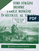 Călători Străini Despre Ţările Române În Secolul Al XIX-lea. Volumul 6