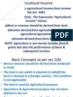 TAXATION Agriculture Income