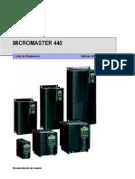 Micromaster 440_lista de Parametros a1 - Siemens