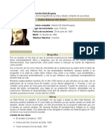 Biografia Del Escritor Antoine de Saint-Exupery.