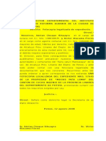 INRA SOLICITO CERTIFICADO DE TITULO EJECUTORIAL.doc