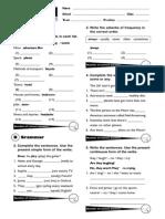 Diagnostic Test Secondary 2 Incluir