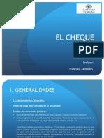 El CHEQUE (08.04.2014 y 15.04.2014)
