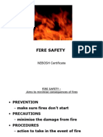 Nebosh Certificate - Fire Safety by Terry Robson
