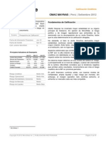 Calificadora Micro Rate Cmac Maynas0612 Final Spanish Crediticio Summary