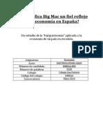 ¿Es La Gráfica Big Mac Un Fiel Reflejo de La Economía en España