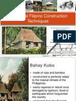 Traditional Filipino Construction Techniques