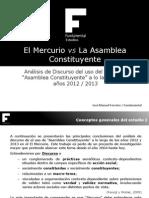 ElMercurio vs Asamblea Constituyente2012 20132