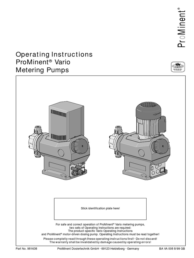 Prominent Wiring Diagram | Repair Manual