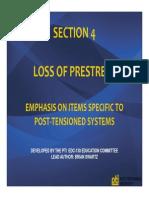 PTI EDC 130 Prestress Losses