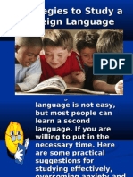 Strategies to Study a Foreign Language