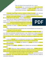 Fichamento - Lições de Direito Processual Civil, Vol. 1