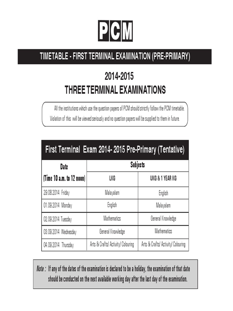 Pre Primary 87 | Academic Term | Further Education