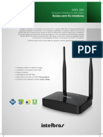 Ficha Tecnica - Roteador Wireless n 300 Mbps Wrn 300