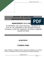 1 Proiect Absolvire-Raport de Evaluare Terec Calin Pentru Examen Final Apartament