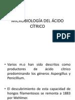 Microbiología Del Ácido Cítrico