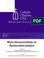 CCUSA- Mass Incarceration vs. Restorative Justice