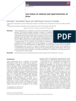 A Review of the Current Status of Cultural and Rapid Detection Of