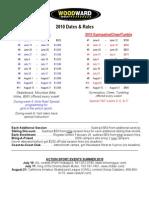 2010 Dates & Rates