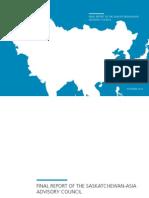 Rapport Comité Consultatif sur la Saskatchewan et l'Asie