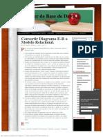 Convertir Diagrama E-R a Modelo Relacional. « Taller de Base de Datos