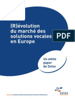 Evolution Du Marches Des Solutions Vocales en Europe