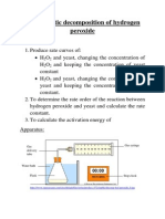 decomposition of hydrogen peroxide