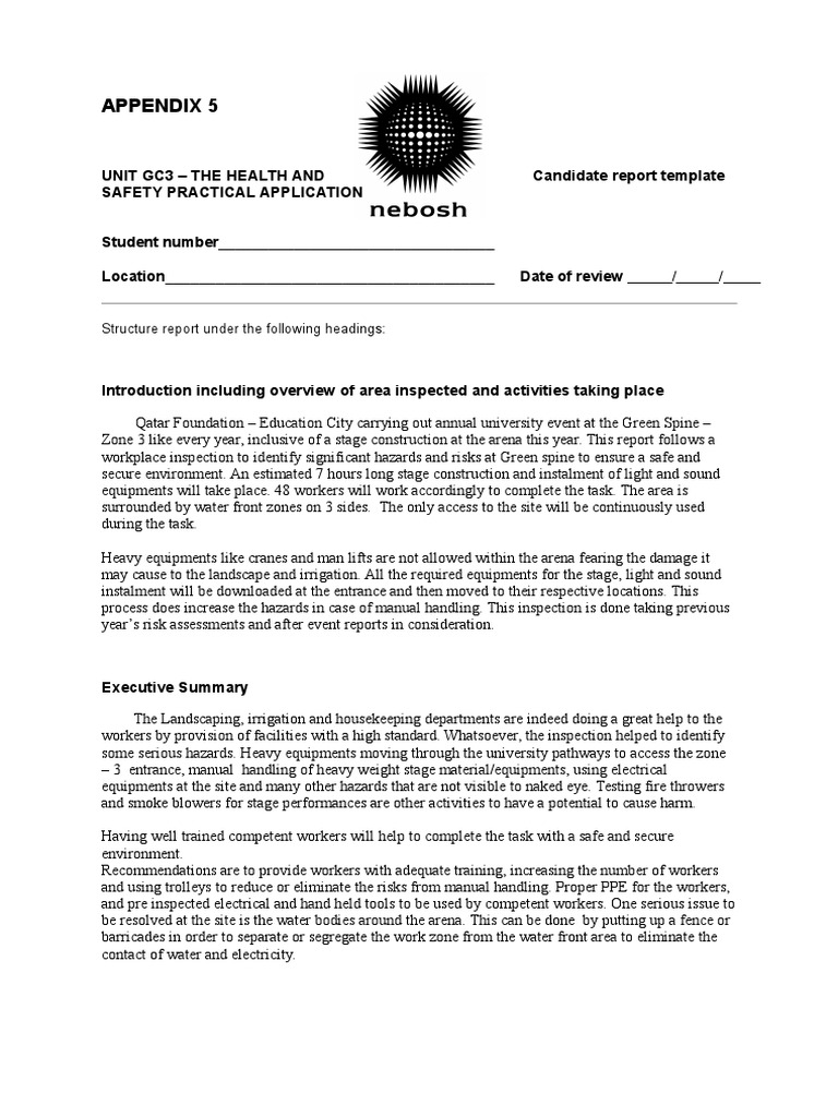 GC3 Candidate Report Template