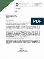 A. Oficio Circular No. MF SP 2012 Presupuesto 2013