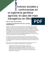 Actores sociales y controversias en la ingeniería genética a