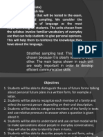 7. Stages on Test Development & Specification Table