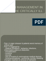 Pain Management in the Critically Ill