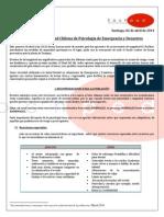 Comunicado Sociedad Chilena de Psicología de Emergencia y Desastres