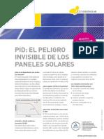 Efecto PID - El Peligro Invisible de Los Paneles Solares