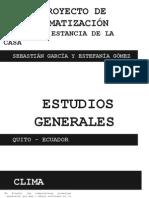 Estudio y Analiis Climaticos Ecuador