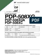 Pioneer Pdp-508xg 508xda 508xc Sm