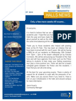 Massey Manawatu Halls of Residence Newsletter Issue 6 2014