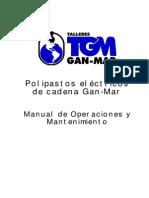 Manual - Aparejo Eléctrico, Correas