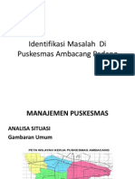 Identifikasi Masalah Di Puskesmas Ambacang Padang