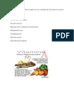 Las Vitaminas y Sus Veneficios