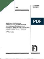 1242-01 Norma Venezolana Det de Oxido Ferroso