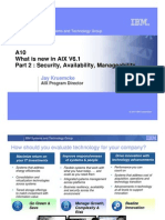 A08 What is in AIX 6 Part 2 - Security Availability and Manageability