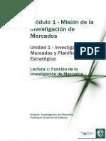 M1 Lectura 1 - Función de La Investigación de Mercados