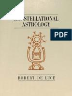 Robert DeLuce - Constellational Astrology (1963)