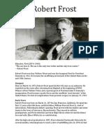Robert Frost Biography