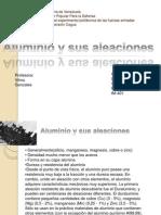 Aluminio y Sus Aleaciones Exposicion